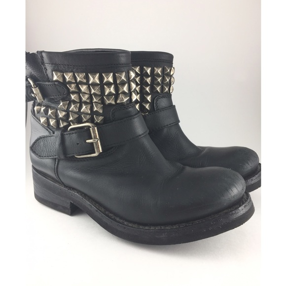 a73df1d9633 Ash | Titan Studded Leather Biker Boots ✨🖤✨
